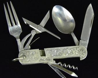 Vintage Silver Pocket Knife Etsy