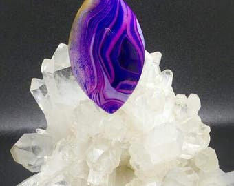 Blue and Purple Agate Swirl Horse Eye Pendant.