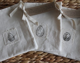 Easter Egg Gift Bag Set, Fabric Gift Bag Set, Set of 3, Medium Eggs Set