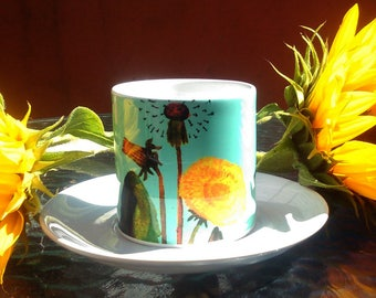 Dandelion Small Cup and Saucer