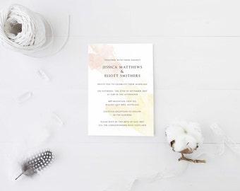 Minimal Wedding Invitation - Printable Design