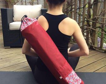 Exercise mat bag, yoga mat bag, Pilates mat bag, holder for exercise  roll, fitness mat holder