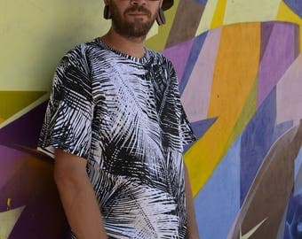 TSHIRT TROPICAL all over print geometric pattern limited edition