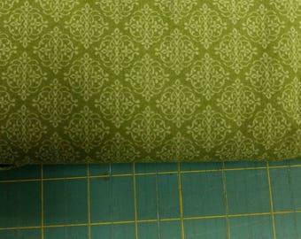 He Still Loves Me fabric. Dark Green medallion diamond chain link quilters cotton quilting Benartex 1733