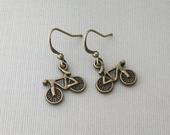 Bike Earrings, Athletic Charm, Bicycle Jewelry, Athletic Earrings, Biker, Bicycle, Sports, Biking Charm