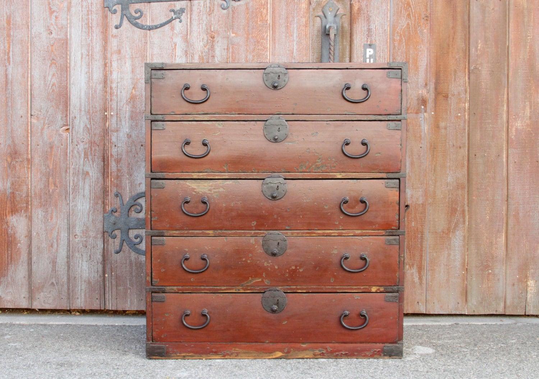 Dresser With Cabinet Reclaimed Dresser Etsy