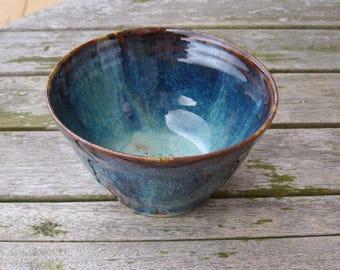 Handmade stoneware, blue-green email - custom Bowl