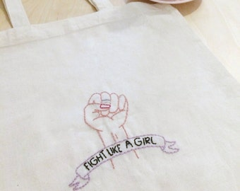 Fight Like a Girl - Tote Bag