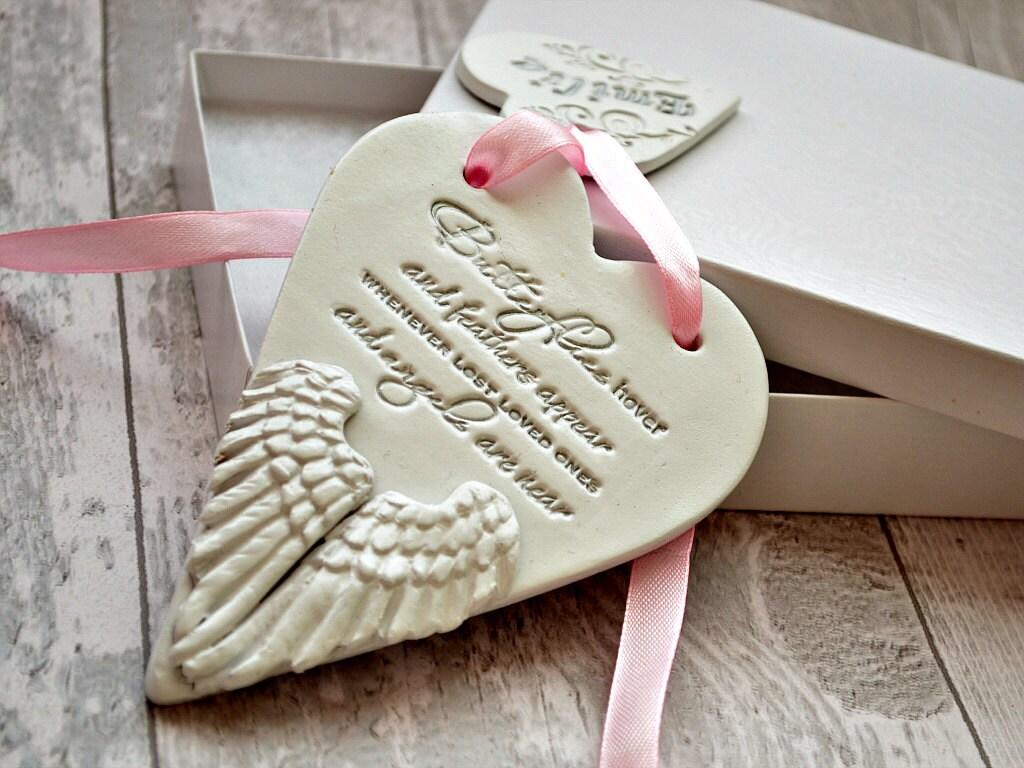 In memory of ornaments - Angel Wings Memorial Keepsake In Memory Of Loved One Personalised Memorial Ornament Sentimental