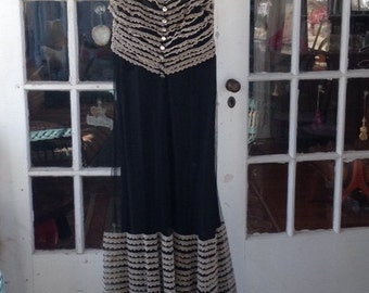 Black tulle and taffeta 1930's gown and shrug,, stunning, Gone with the Wind