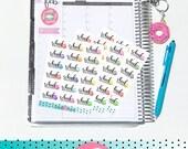 School Excursion - School Days Brights | Sheet of 18 | Stickers for Erin Condren Vertical Hourly Life Planner - Happy Planner - Parents