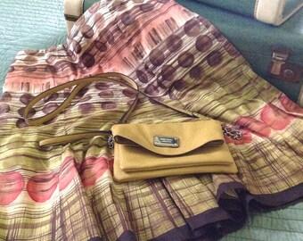 BREEZY Soft Flouncy Cotton Mini Skirt  - TALBOT's, US Size 12 - Sunset Colors