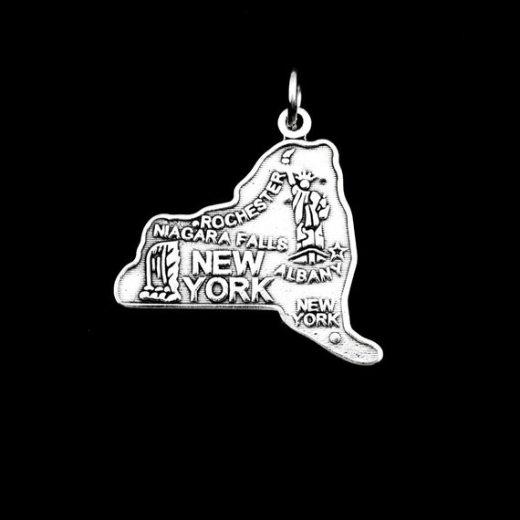 New York Charm State Charms New York State Sterling