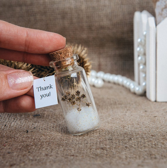 Thank You Gifts At Weddings: Natural Favors Eco Wedding Favour Thank You Bottle Wedding