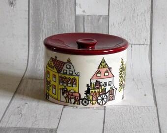 Vintage German SMF Schramberg Circular Pot and Cover
