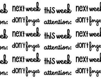 NEW Planner Sticker Weekly Sayings and Words