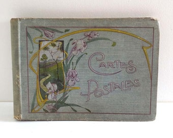 Album cartes postales Art Nouveau - Album photo ancien - Album vintage 1900