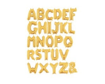 Gold Foil Letter Balloons 14"