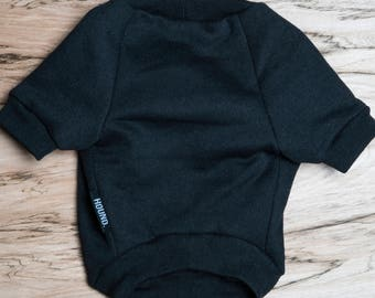 SALE PRICE - one size only - Dog / cat Jumper / Sweatshirt - Black -  Handmade pet clothes - Ideal for dogs,  puppies and cats