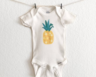 Summer - Spring - Baby Onesie - Pineapple