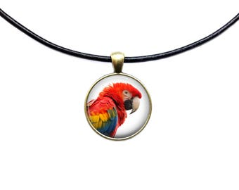 Bird pendant Parrot necklace Animal pet jewelry