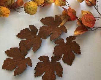 Leaves, Metal Leaves, Fall Leaves, Autumn Decor, Rustic Wedding Decar, Fall Wedding Decor, Maple Leaves, Floral Arrangement, Wreath Supply