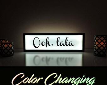 Ooh LaLa, Ooh La La, Ooh LaLa Sign, Ooh La La Light box, Ooh La La Decor, French Decor, Paris Decor, French Room, Ooh La La Art, Light Box
