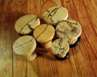 Single flare tamarind wood plugs organic ear gauges