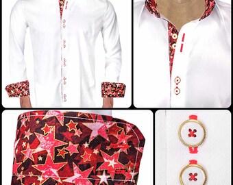 Men's Memorial Day Designer Dress Shirt  - Made To Order in USA