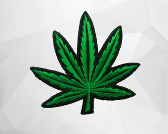 Cannabis, Weed Iron On Patch (L1) 8.3X8.0 cm  - Weed Embroidery Applique Iron On Patch