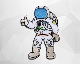 Astronaut Iron on Patch(L1) -  Space Applique Embroidered Iron on Patch- Size 6.0x8.9 cm