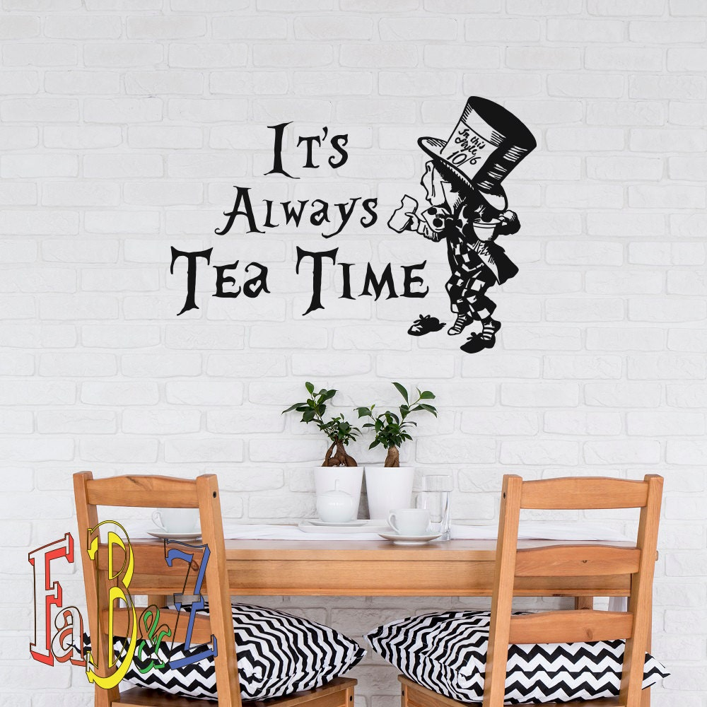 mad hatter quotes alice in wonderland wall decal it s zoom