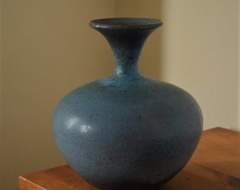 Turquoise Pottery Bottle by Fire Garden Pottery.  Pottery vase. Home decor.