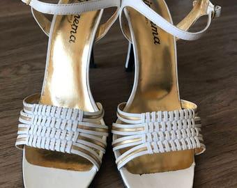 CLEARANCE White Ipanema sandal heels