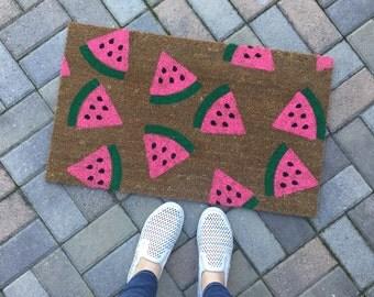 Watermelon Doormat / Custom Welcome Mat / Front Door Mat / Housewarming Gift / Summer Doormat / Disney Doormat / Spring Doormat / Southern