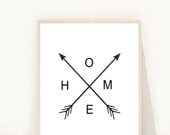 Home and Living, Wall Decor, Home Arrow Print, Wall Prints, Printable  Art, Home Print,  Arrow Art, Home Print, Digital download