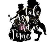Beauty & the Beast - Tale as Old as Time - Silhouette Studio Cut file