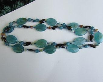 Vivid Turquoise Jade with Smoky Quartz