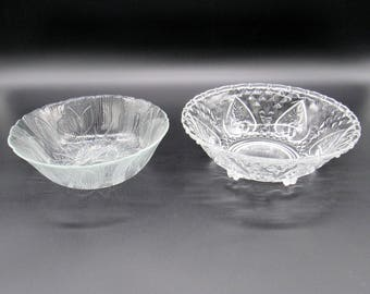Small Glass Bowl, Glass Bowl, Arcoroc, Kig Indonesia, Pressed Glass, Pressed Glass Bowls, Decorative Bowls, Arcoroc France Glass Bowls
