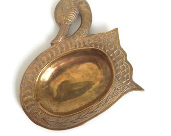 Brass Swan Dish