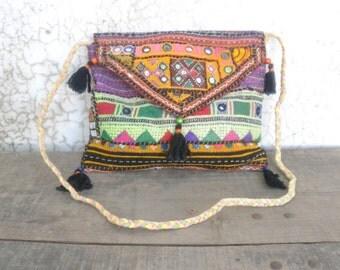 Banjara boho clutch, tribal bag, kuchi bag, ethnic clutch, boho shoulder bag, gypsy bag, indian bag, afghan clutch, hobo bag, kuchi ethnic
