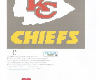 Crochet Pattern Kansas City Chiefs Afghan : Crochet pattern kansas Etsy
