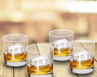 Personalized Whiskey Glass Set - Lowball Glasses