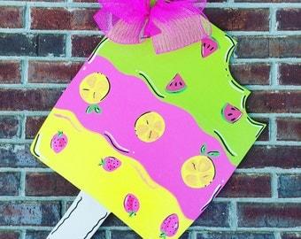 Popsicle Door Hanger, Summer Door hanger, Summer Wreath