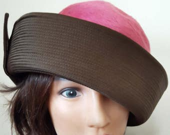 Women's Cloche Hats, Pink Hats, Formal Hats, Vintage Hat, Retro Style Hats