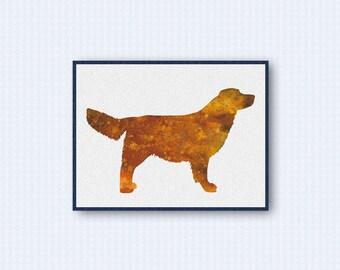 Golden Retriever Watercolor Poster