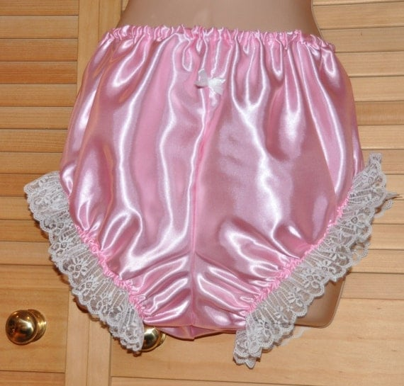 Lovely silky soft satin panties  with lace, Sissy Lingerie