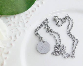 Hand & Foot Impression Pendant Necklace