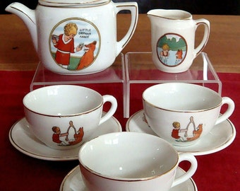 Little Orphan Annie 1930's Porcelaine Children's Tea Set