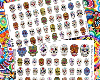 Dia de los Muertos - Day of the Dead Sugar Skulls Cute Planner Stickers
